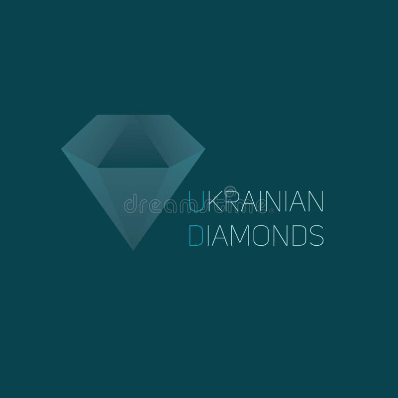 Diamond Logo stockbilder