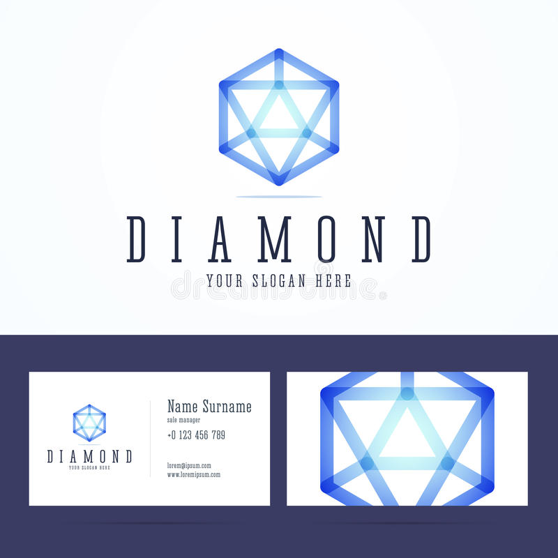 Diamond Logo And Business Card Template. Stock Vector - Image ...