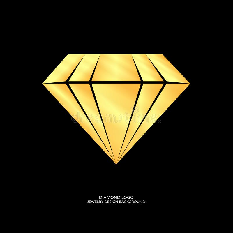 Diamond logo design royalty free illustration