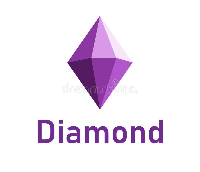 Diamond logo design stock illustration