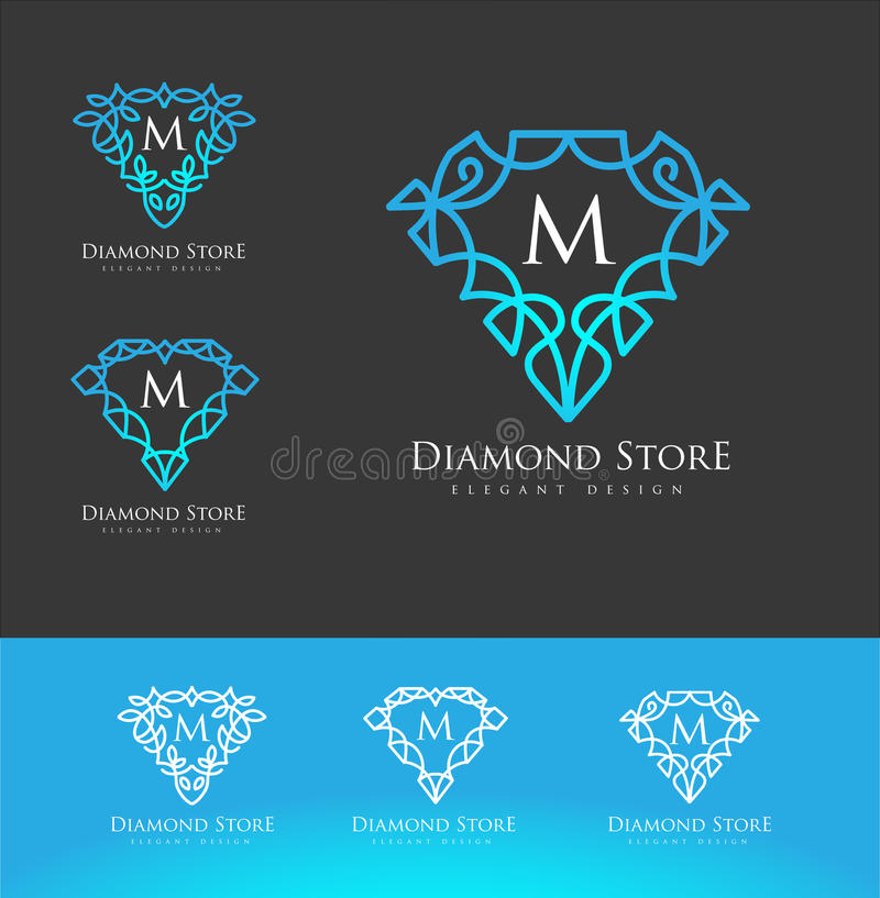 design logo flower isolate on crown white and vector set stock jewelry photo diamond background