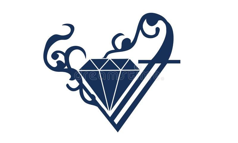 Diamond Logo Ornament illustration de vecteur