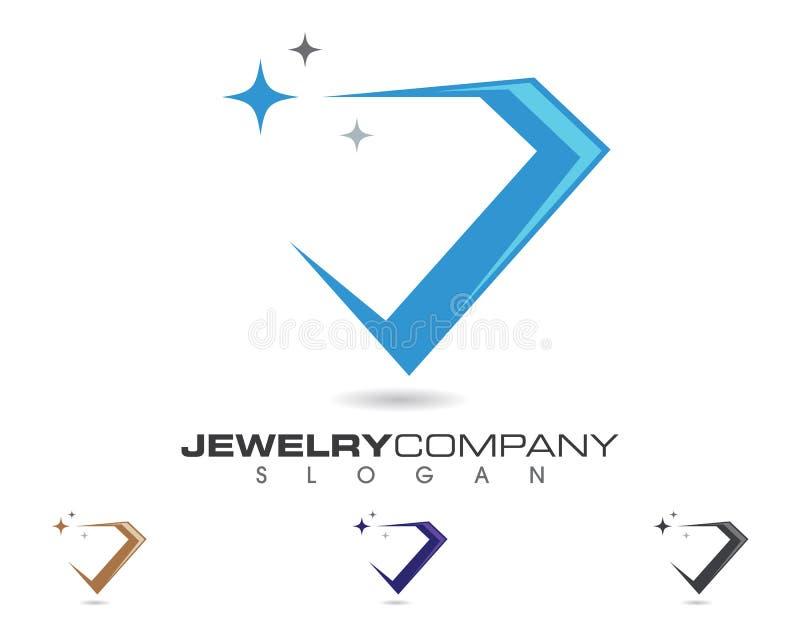 Diamond Logo Template vektor abbildung