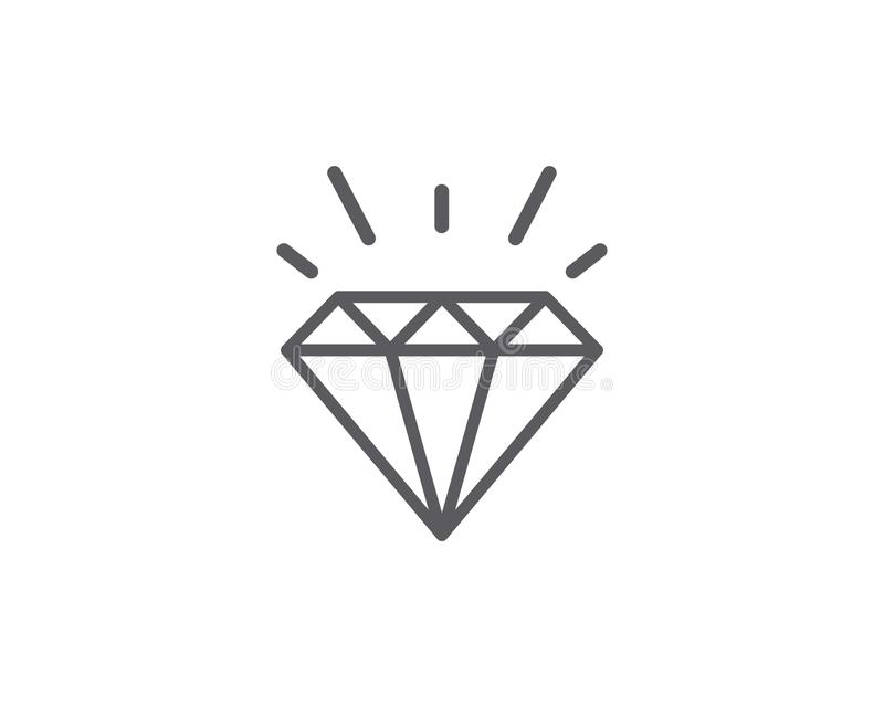 Diamond Logo Template-Vektorikone vektor abbildung