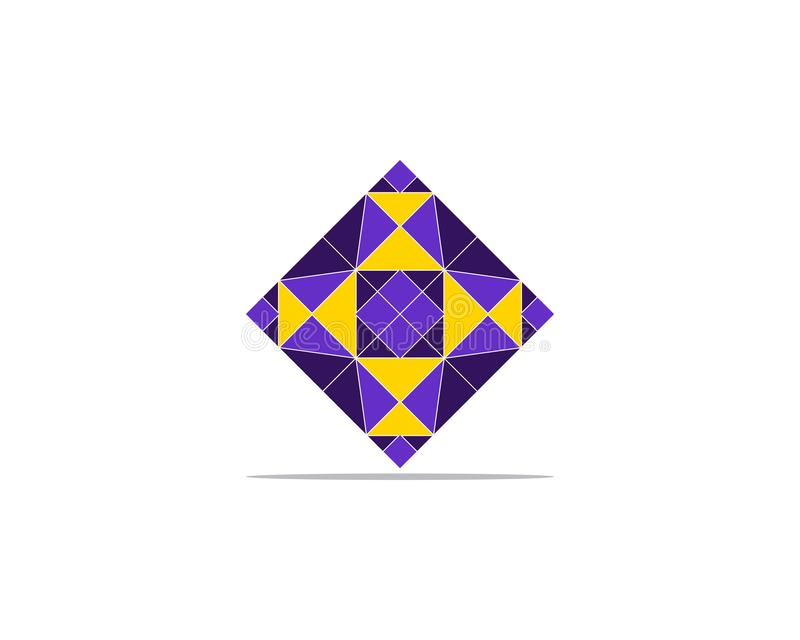 Diamond Logo Template-Vektorikonen-Illustrationsdesign lizenzfreie abbildung