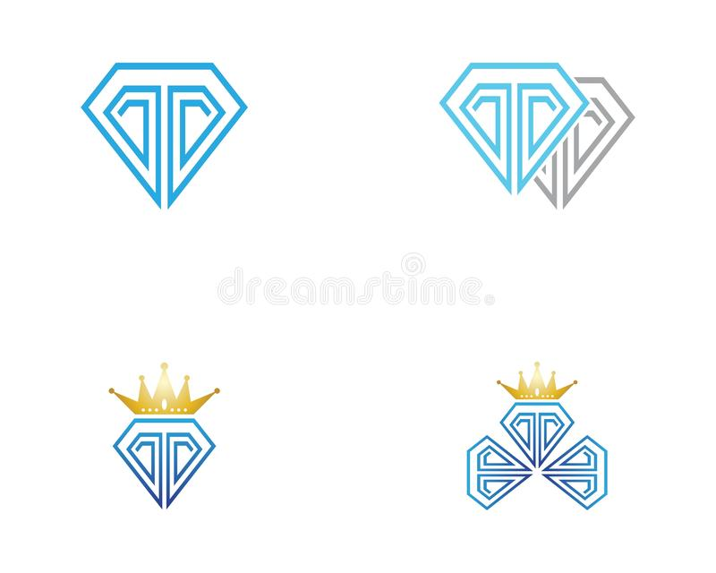 Diamond Logo Template stock abbildung