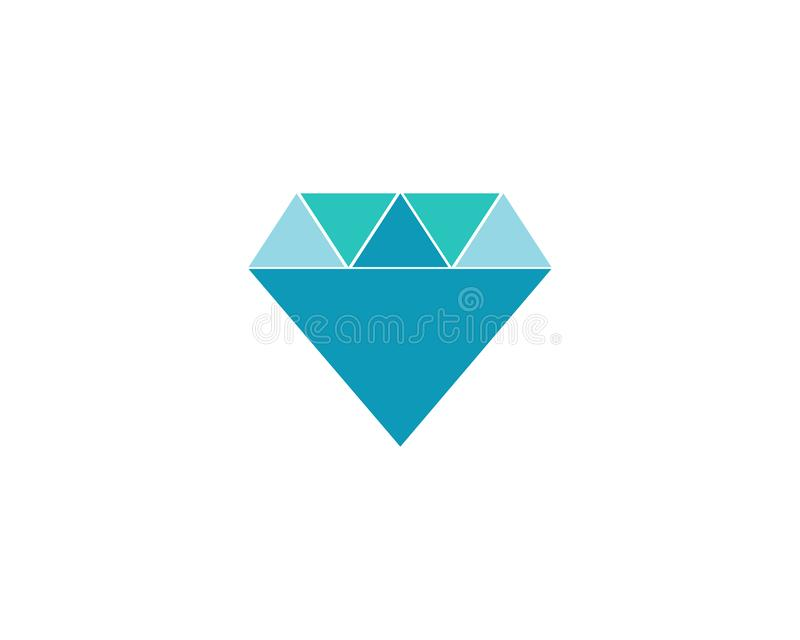 Diamond Logo Template-Vektorikonenillustration stock abbildung