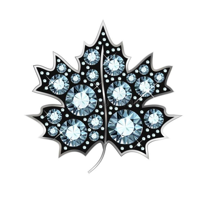 Diamond Maple Leaf vector illustratie