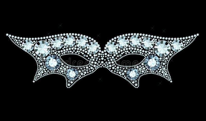 Diamond Mask ilustração do vetor