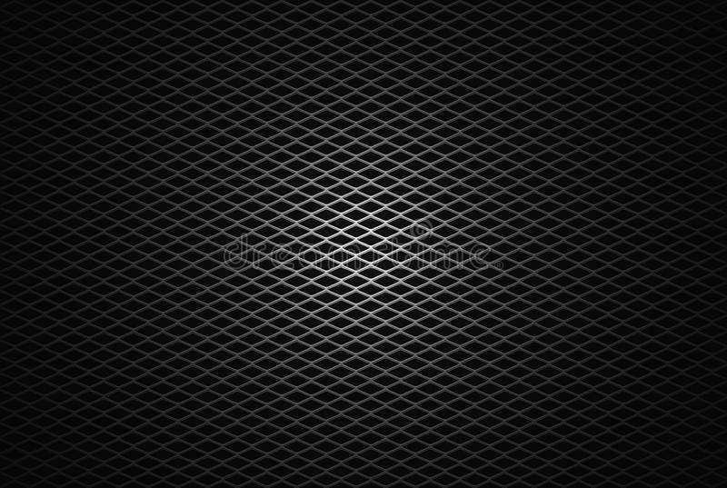 Diamond Mesh 01. Abstract silver diamond mesh background with center point light royalty free illustration
