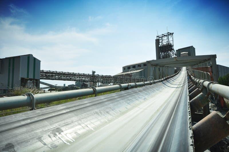 Diamond mine conveyor system stock image