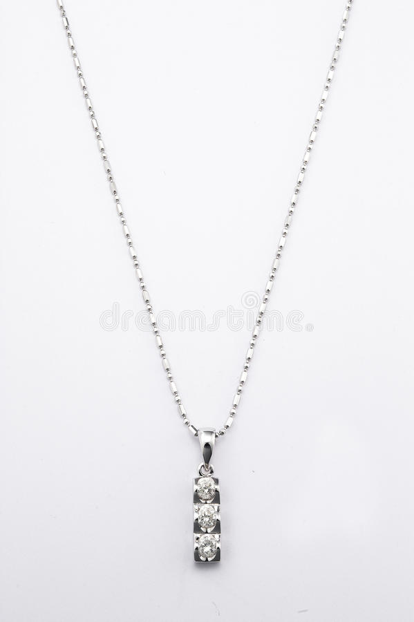 Diamond necklace royalty free stock image