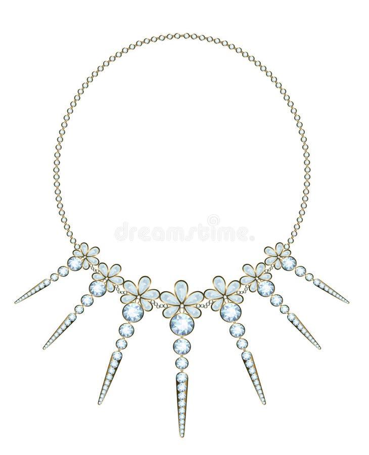 Diamond Necklace ilustração do vetor