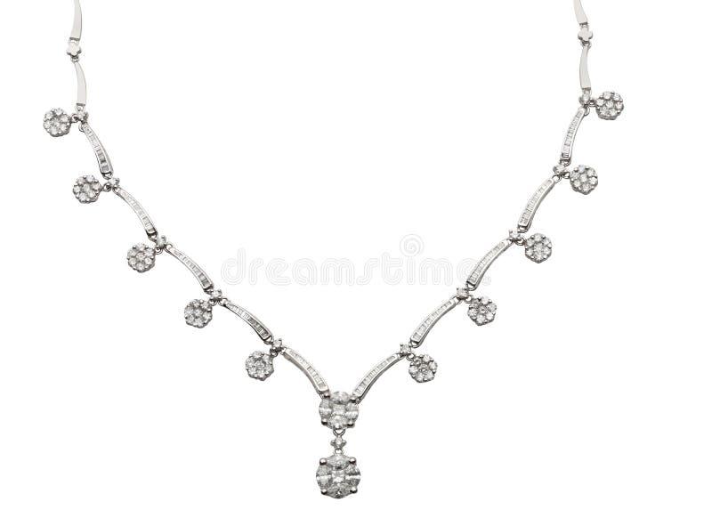 Diamond Necklace no branco fotos de stock