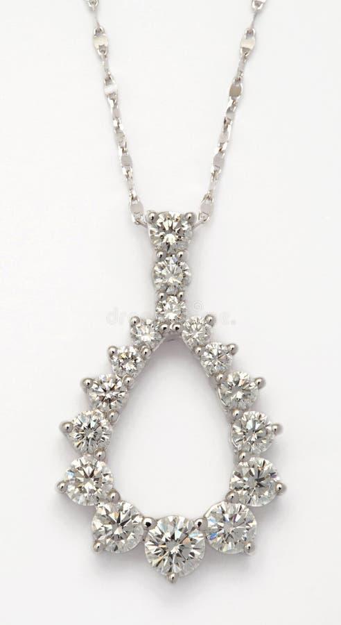 Diamond Necklace on White royalty free stock photos