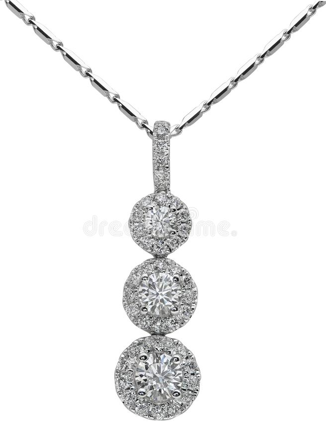 Diamond Necklace on White stock images