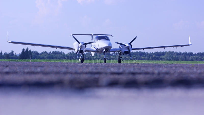 Diamond 42 NG aircraft on the apron stock image