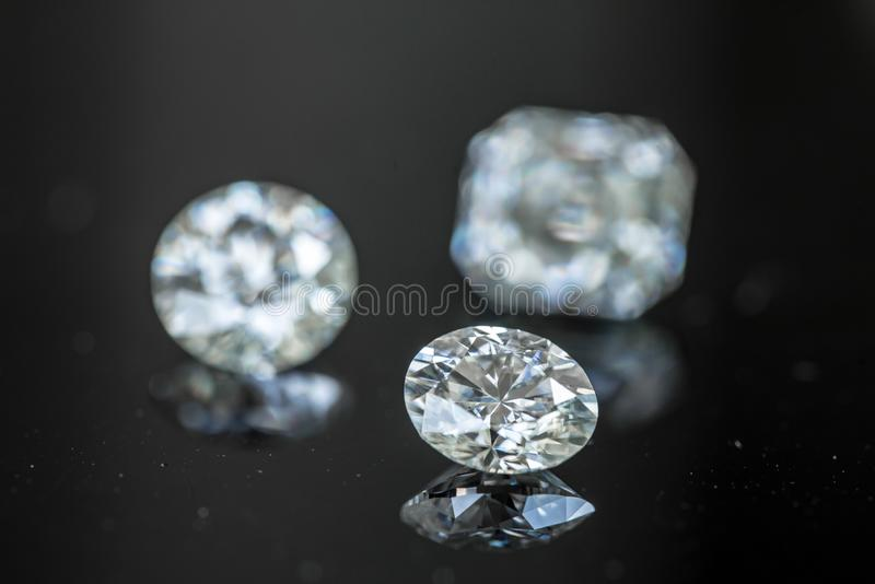 Diamond Oval Cut arkivfoto
