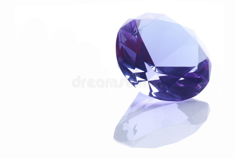 Diamond Over A White Background Stock Images