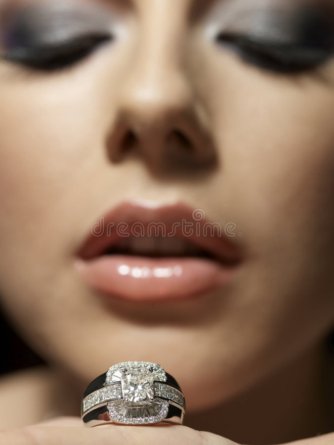 Download Diamond passion stock photo. Image of lips, make, gift - 7043666