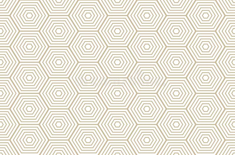 Diamond pattern Modern stylish texture with rhombuses, squares . Seamless vector. Repeating geometric tiles. Gold and white royalty free illustration