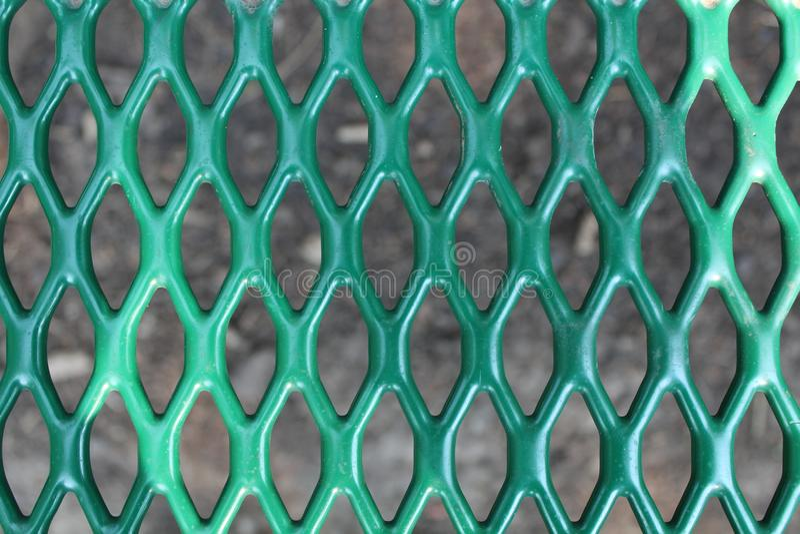 Diamond Pattern Picnic Table Seat royaltyfri bild