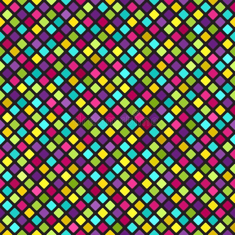 Diamond Pattern Priorità bassa senza giunte di vettore illustrazione di stock