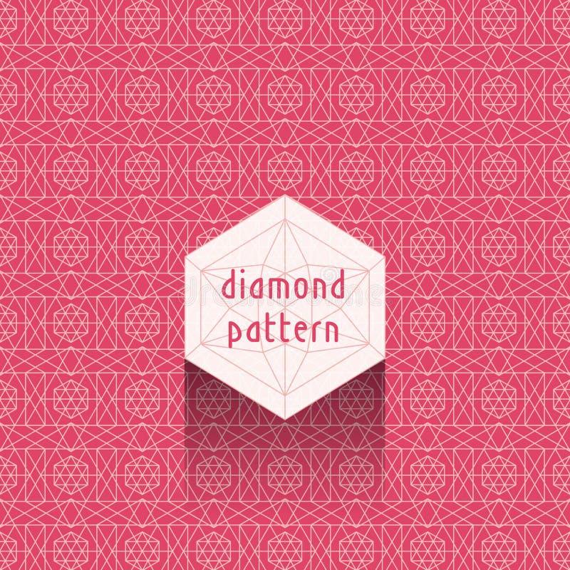 Diamond pattern royalty free stock photo