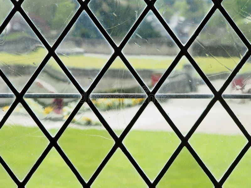 Diamond Patterned Window View foto de stock royalty free