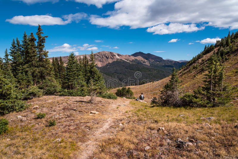 Diamond Peak Trail, escala da curva da medicina, Colorado foto de stock