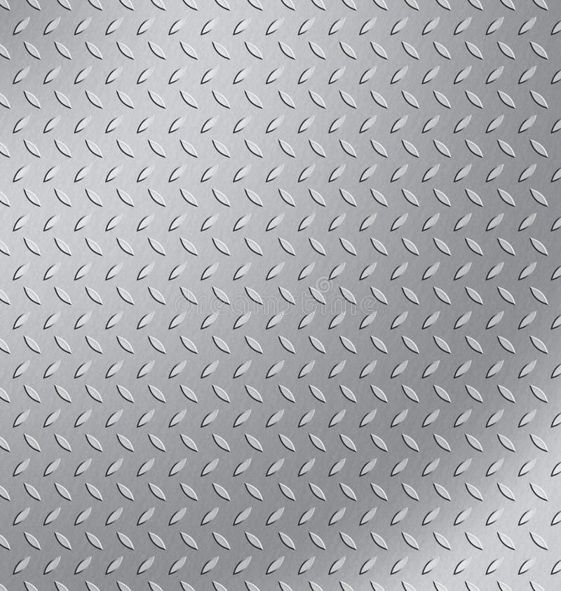 Diamond plate. A piece of diamond plate steel stock illustration