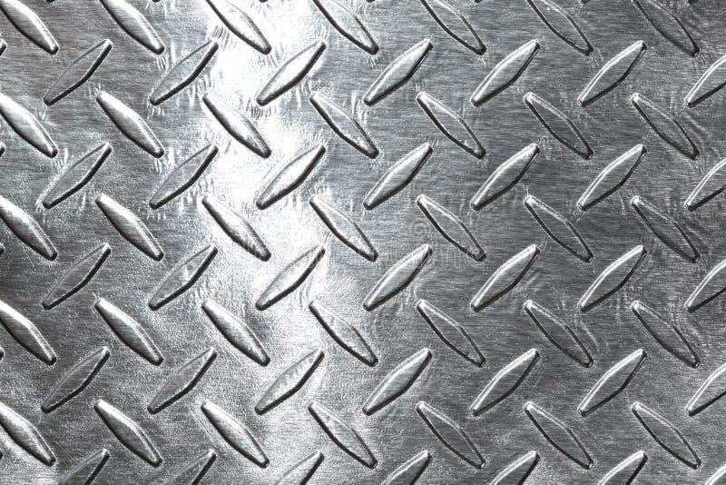 Diamond plate. Shiny diamond plate background or texture royalty free stock photos