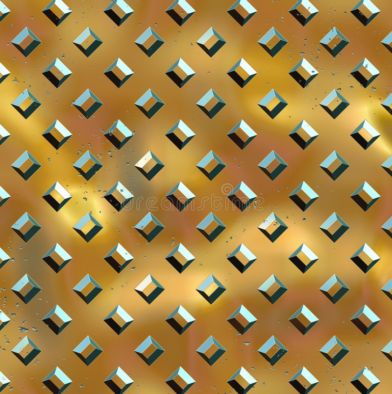 Diamond Plate - Golden Buttons vector illustration