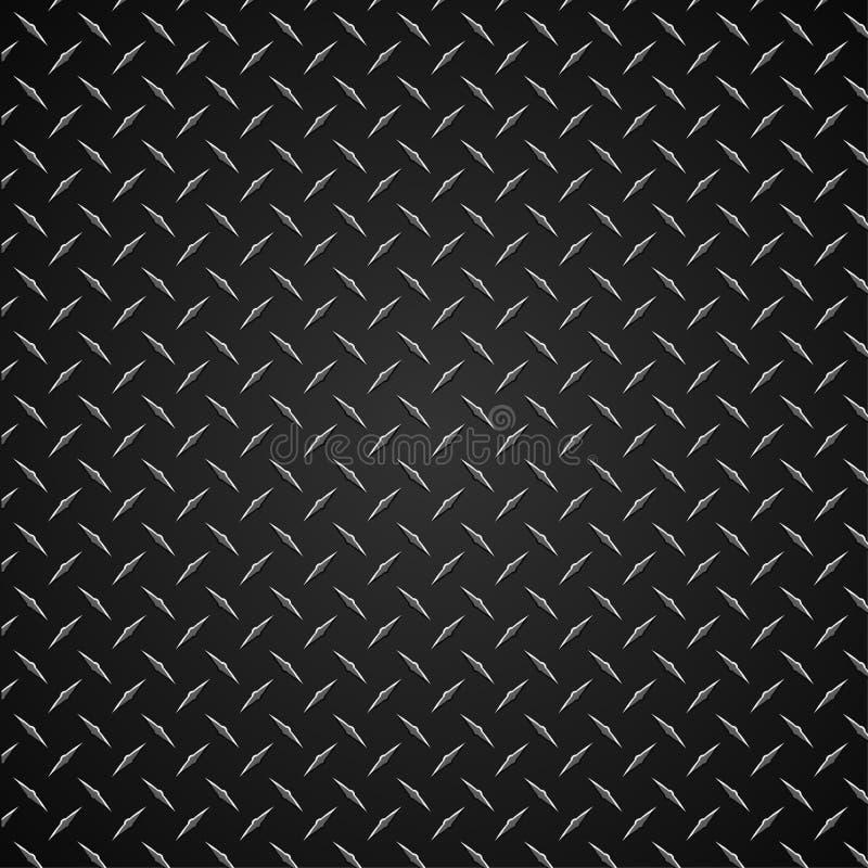 Diamond Plate Realistic Vector Graphic illustration royaltyfri illustrationer