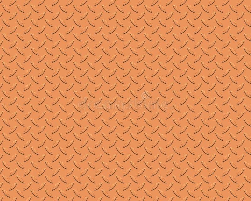 Diamond plate small copper vector illustration