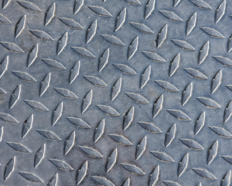 Diamond plate steel stock photo