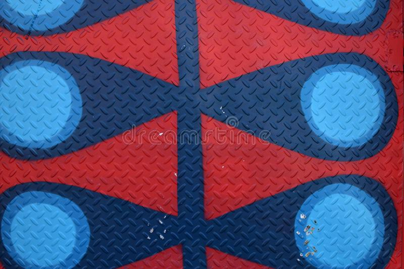 Diamond Plate Texture Background vermelho e azul abstrato foto de stock royalty free