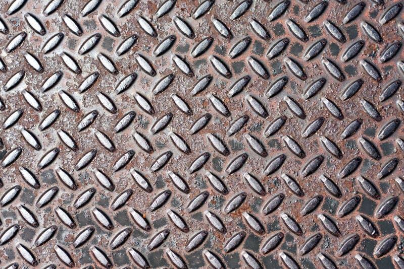 Diamond Plate Texture de aço real fotografia de stock royalty free
