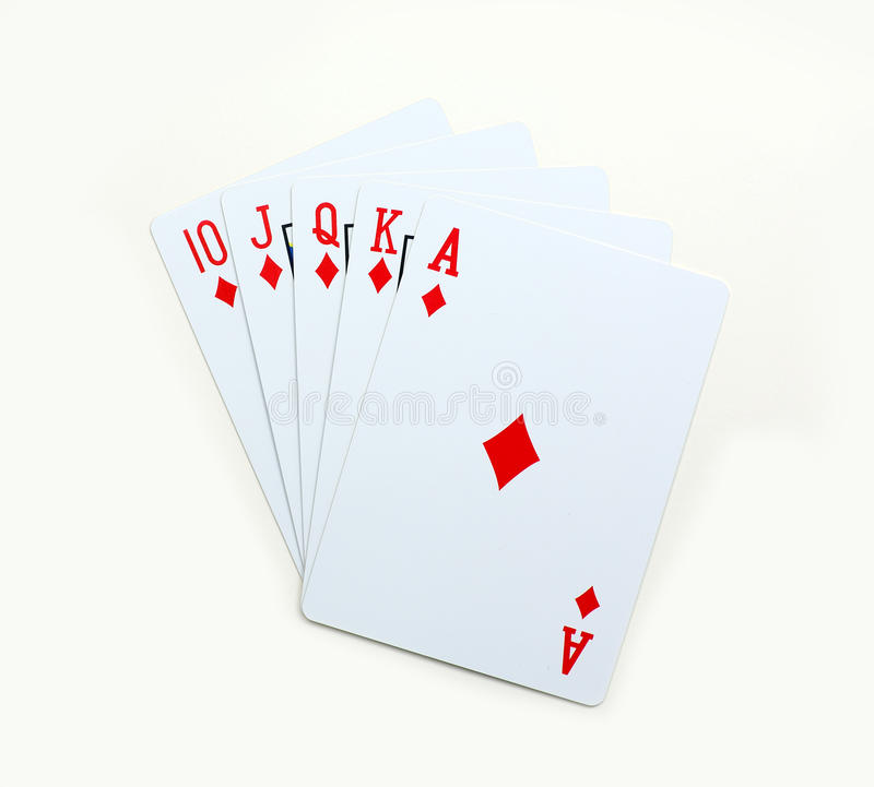 Diamond Playing carda o pôquer foto de stock royalty free