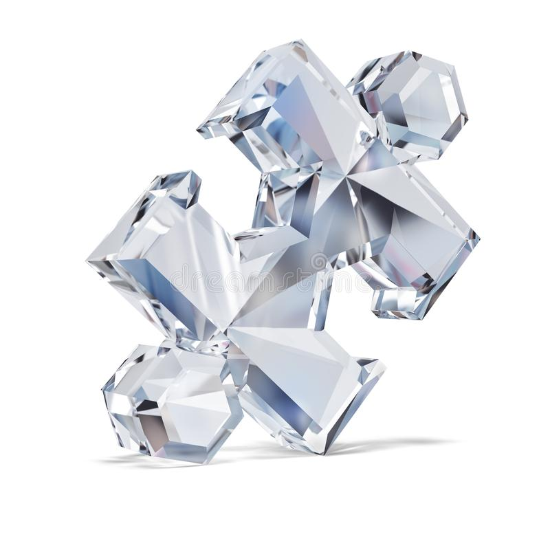 Diamond puzzle stock illustration