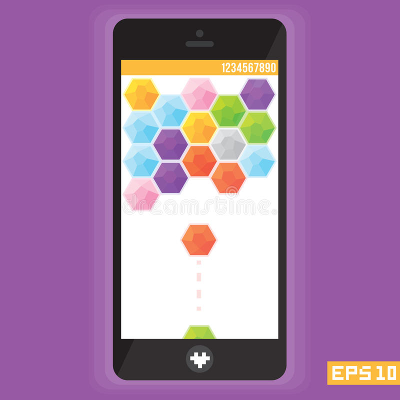Diamond puzzle game asset for mobile devices vector vector illustration