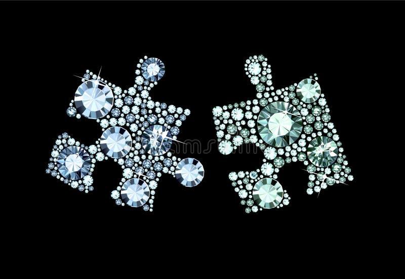 Diamond Puzzle Pieces vector illustration
