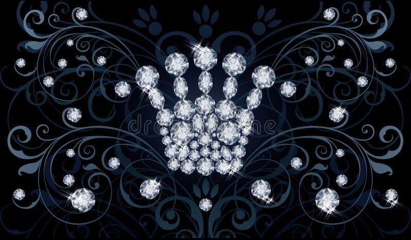 Download Diamond Queen Krone Promi Einladungskarte Vektor Abbildung   Bild:  49193497