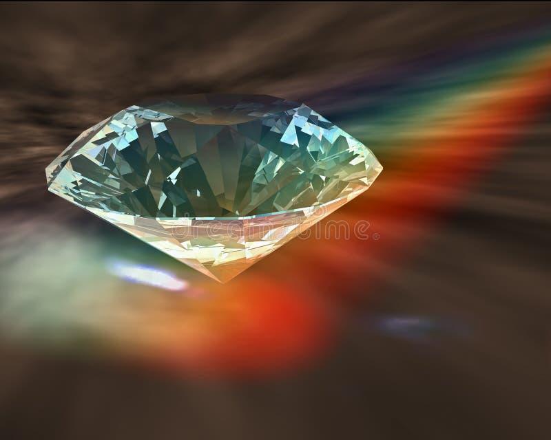 Diamond in rainbow stock illustration