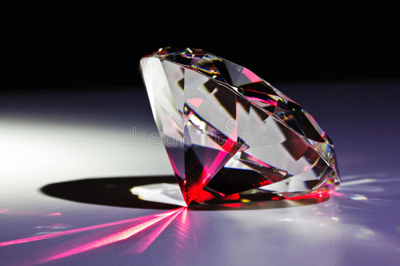 Diamond and red laser royalty free stock images