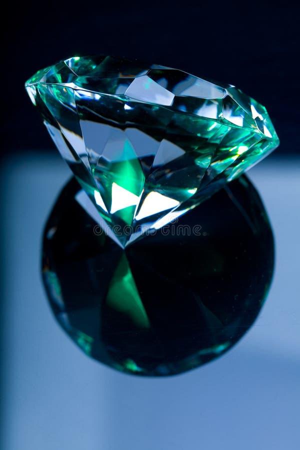 Diamond and reflection. Big royal diamond and reflection stock photography