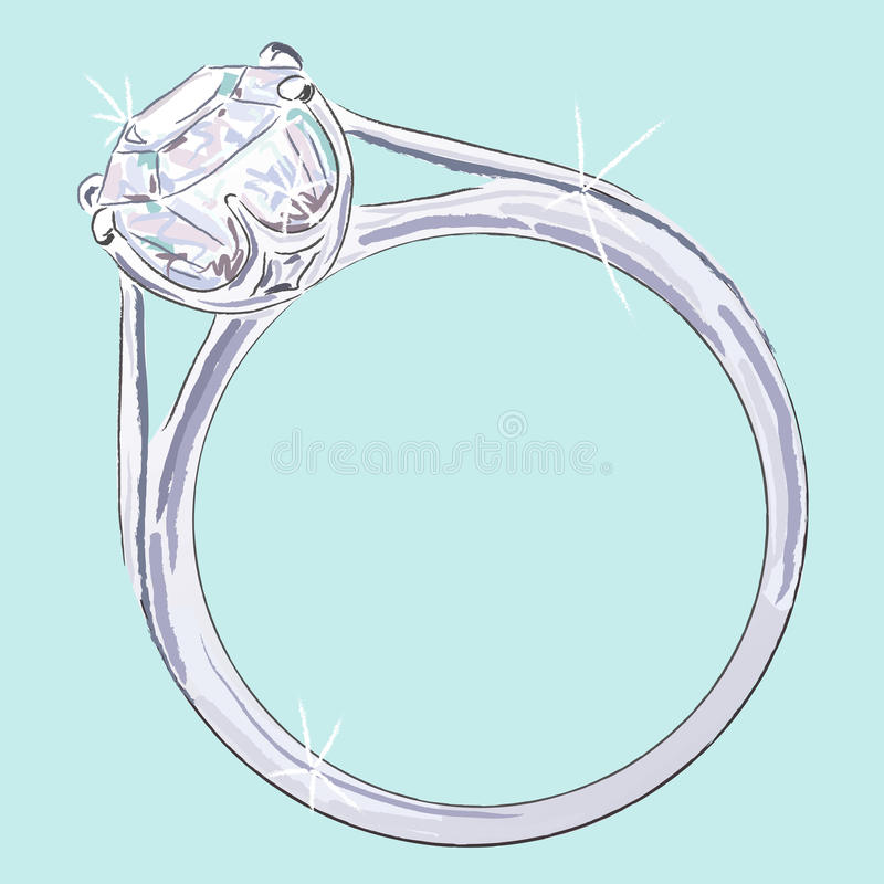 Diamond Ring stock illustration