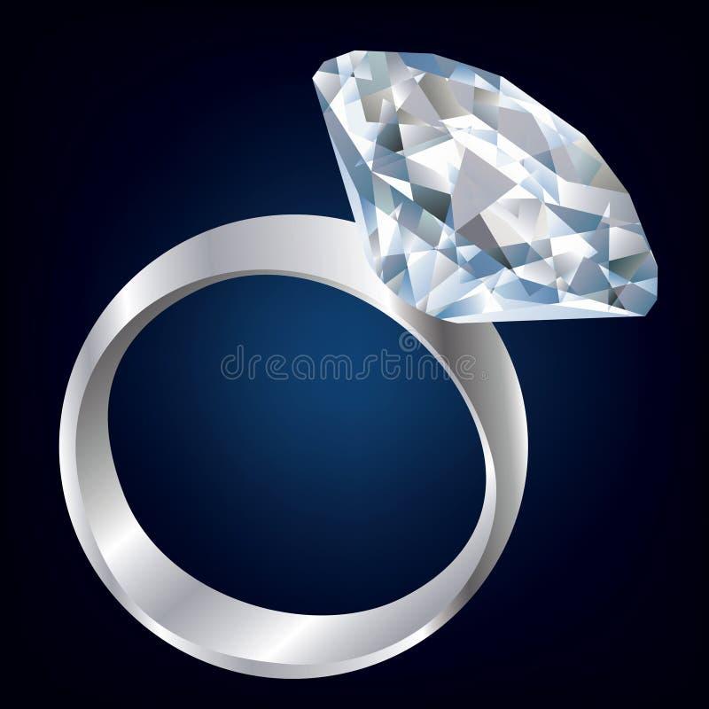 Diamond ring royalty free illustration