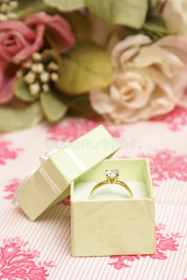 Download Diamond Ring stock photo. Image of open, marry, green - 21877588