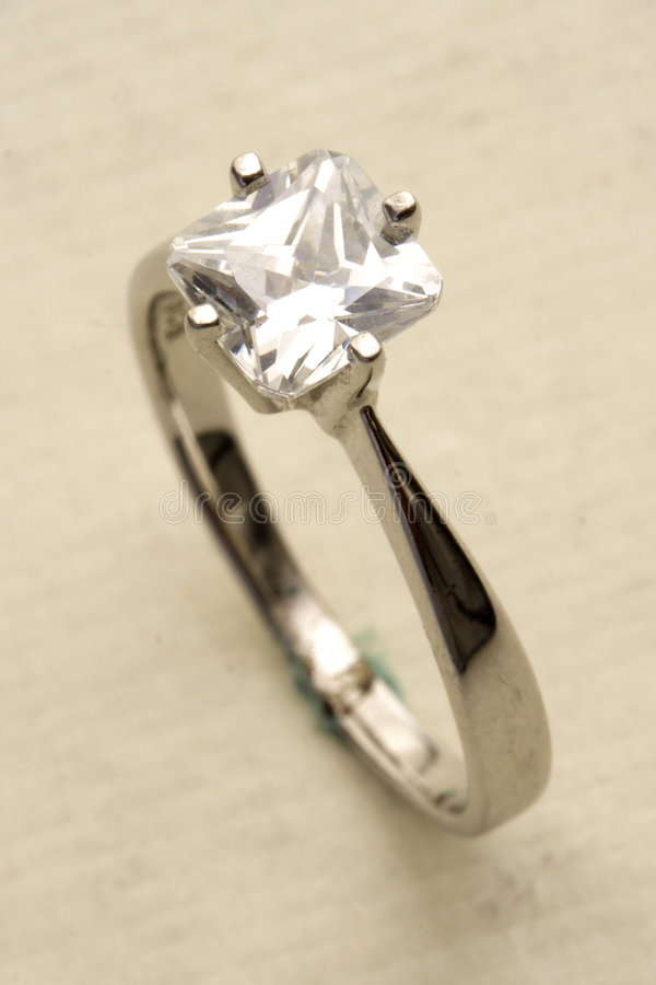 Diamond ring. Close up of a beautiful diamond ring royalty free stock images